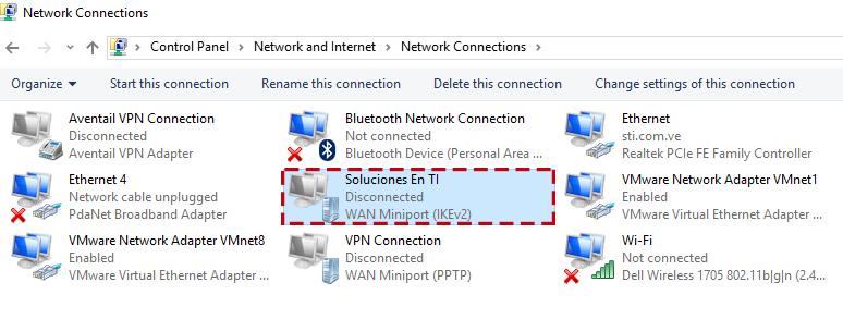 Configuración de VPN en equipos remotos